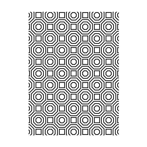Darice Embossing Folder Cartella per Goffratura Mascherina Sfondo con Ottagoni, 10.8x14.6x0.3 cm