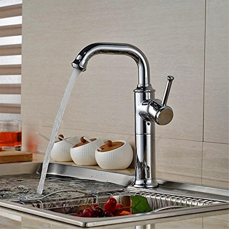 Küchenarmatur, Wasserhahn küche mit herausziehbarer Dual-Spülbrause,Spiralfederhahn Wasserhahn.Kaltes und Heies Wasser Vorhanden Messing verchromt Robinet de cuisine robinet d'évier chaud et froid