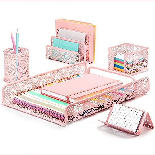Hudstill Pink Cute Desk Organize...