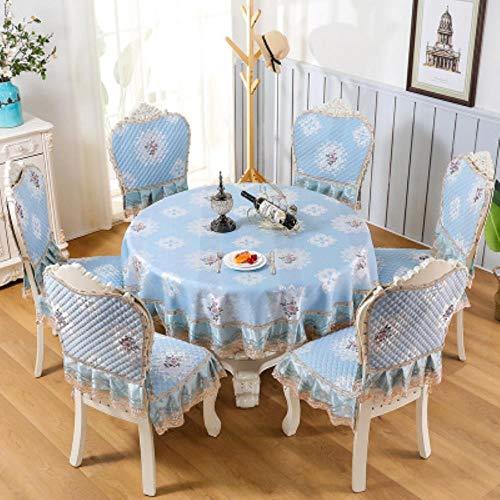 K-ONE - Juego de cojines para silla de comedor, estilo europeo, rectangular, mantel redondo de alta calidad, B, Chair cover 6 sets