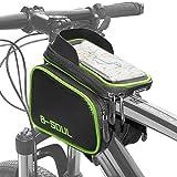 COFIT 3 en 1 Bolsa de Manillar para Bicicleta de Gran Capacidad Verde, Funda para Bicicleta-Verde y Negro