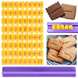 Yiran Alphabet Number Letter DIY Mold Cookie Biscuit Stamp Baking Impress Cutter Cake Mould for Decorating Cookies, Cake, Fondant, Baking Tool