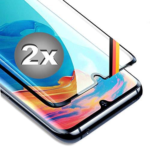 CT-HEXAGON® Schutzfolie Huawei P30 lite - P30 Lite New Edition 2Stück - Huawei P30 lite Schutzfolie Komplett Displayschutz Schutzglas Schutzglasfolie