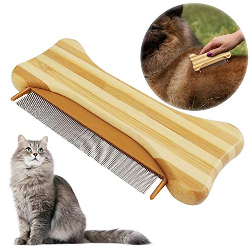 onebarleycorn - Peine antipulgas para Perros y Gatos, Elimina pulgas y piojos y Suciedad en Tus Mascotas, Gatos y Perros, eliminador de Insectos