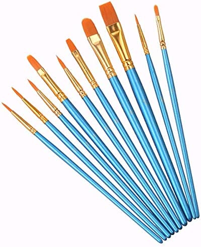 Elisel 10 Pcs Paint Brushes Set Watercolor Brushes Art Paint Brushes for Kids and Adults to product image