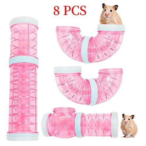 WishLotus Hamster-Röhren, Adventure externer Rohr-Set, transparentes Material, Hamsterkäfig & Zubehör, Hamsterspielzeug, um Platz zu erweitern, kreative Verbindung, Tunnel, Rattenspielzeug