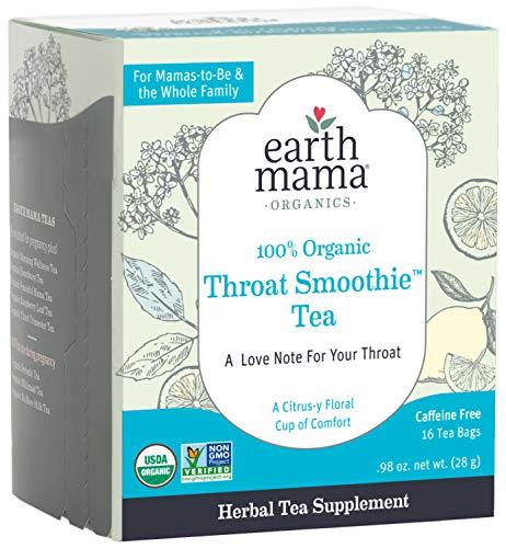 Earth Mama Organic Throat Smoothie Tea with Elderflower for...