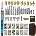 48pcs 110V 60W Wood Burning kit with with LCD Display with Soldering Iron kit Wood Craft Tool Pyrography Wood Burning Tools