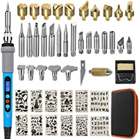 Aipudi 48-Pieces 110V 60W Wood Burning kit with LCD Display