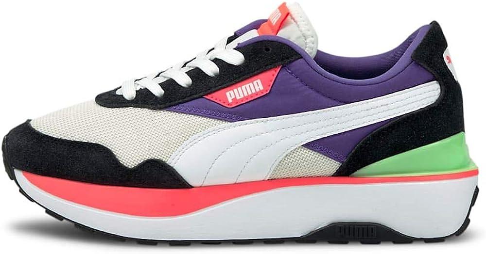 Puma cruise rider silk wn`s scarpe sneakers da donna in tessuto e pelle sintetica 375072-04 -21U