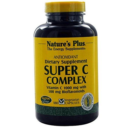 Natures Plus Super C Complex 1000mg w/500mg Bioflavonoids (2 Caps) 180 veg. Kapseln