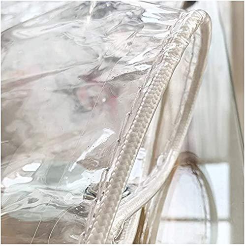 ZHANGQINGXIU Lonas Impermeables Exterior,Cubiertas De Plantas Transparentes, Lona Resistente, Lona Impermeable De PVC Con Ojales, (400 G / M2) Tela Para Exteriores Resistente A La Intemperie, Personal