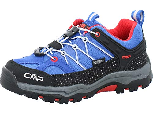 CMP Kinder Trekking Schuhe Rigel Low 3Q54554 Cobalto-Stone-Fire 34