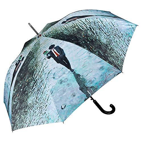 VON LILIENFELD Regenschirm Auf-Automatik Damen Herren Stabil Kunst Stockschirm Theo Michael: Romance