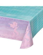 غطاء طاولة بلاستيك مطبوع بالكامل من كريتيف كونفيرتينغ، 54 انش × 102 انش، 0.01x102x54 انش، قزحي الالوان