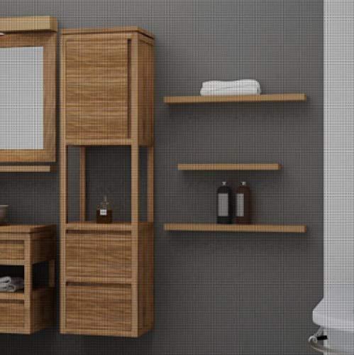 Plank Maxima Teak massief houten badkamerrek afmetingen (B x H x D) 80x3x13 cm