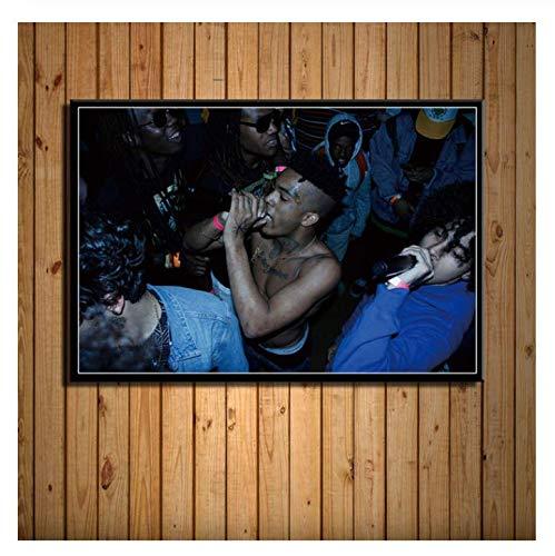 Stampe Artistiche da Parete Quadri su Tela Decorazione della Casa Hip Hop Musica Star Pittura Modulare Poster Nordico Soggiorno Senza Cornice (15,7 X 19,6 Pollici) G8494