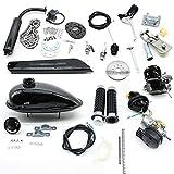 Kit de Motor de Gasolina de Un Cilindro y 2 Tiempos, Kit de Conversión del Motor de Gasolina de 80 cc y 2.2 kW para Bicicletas de Carrera/Montaña, Kit de Motor Motorizado de Bicicletas