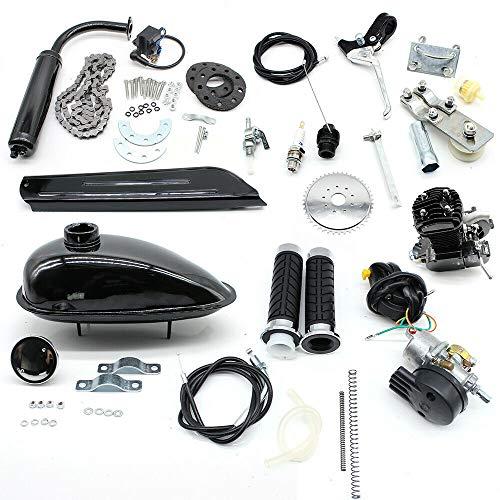 80CC Fahrradmotor Kits 2-Takt-Benzinmotor Einzylinder, Luftkühlung Elektrofahrrad-Umbau-Set Geringes Geräusch Pedal Cycle Benzinmotor Kit für Mountainbikes, Rennräder, Cruiser