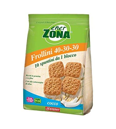 Enerzona frollini 40-30-30 cocco 250 gr