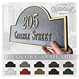 Personalized Cast Metal Address plaque with Arch top (Large Option). Display Your Address ...
