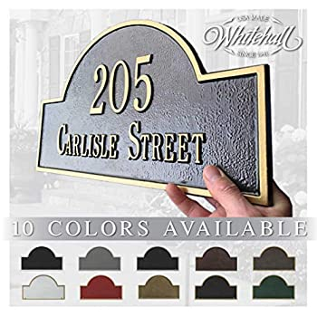 Metal Address Plaque Personalized Cast with Arch top  Large Option  Display Your Address and Street Name Custom House Number Sign Wall Mounted Sign