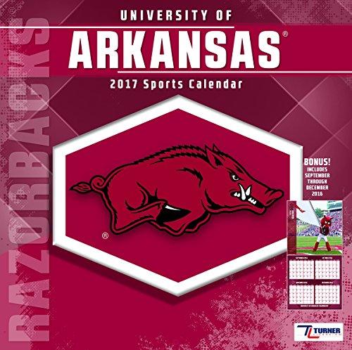 "Turner Licensing Sport 2017 Arkansas Razorbacks Team Wall Calendar, 12""X12"" (17998011796)"