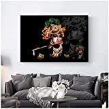 5Tdfc Print Art Sri Krishna Canvas Painting On The Wall Classical Hindu Gods Wall Posters and Prints Pictures for Living Room-60X80Cm No Frame