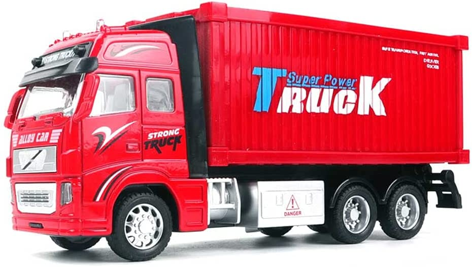 Large-scale sale Xolye Alloy Material Cargo Transport and Light Sound Toy Vehicle Luxury goods