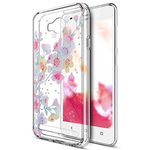 Cover Huawei Y3 II,Custodia Huawei Y3 II,Custodia Huawei Y3 II Cover,Cover Trasparente custodia Huawei Y3 II disegno col se Super Sottile Bumper Case Custodia Cover per Huawei Y3 II,Fiori di ciliegio