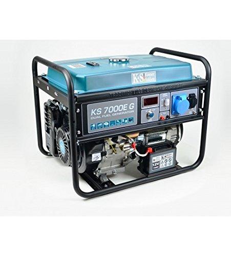 K&S   Könner&Söhnen   Gas- und Benzin-Stromaggregat   5.500 Watt   KS7000EG   Dual Fuel   Stromerzeuger