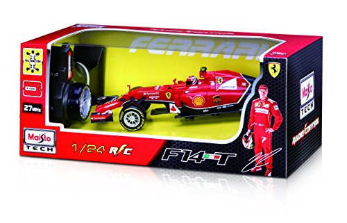 Maisto 581186 - Ferngesteuertes Modellauto 1:24 Ferrari F14T mit Fernando Alonso*