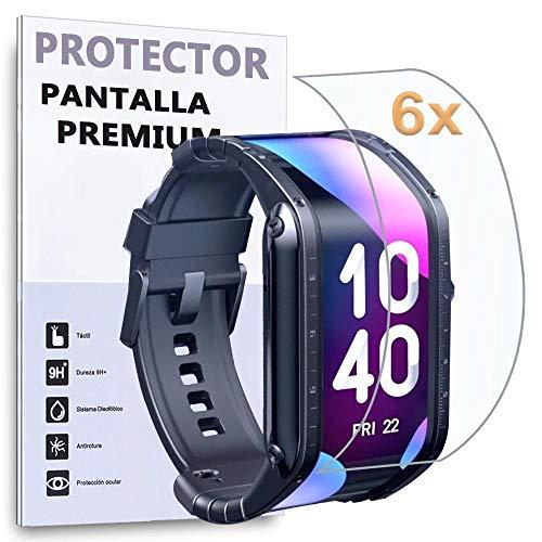 REY 6X Protector de Pantalla para ZTE Nubia Watch, Protección Premium (Pack de 6)