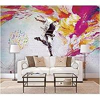 Iusasdz カスタム壁紙3D写真壁画活力ノスタルジックダンス青年壁リビングルーム寝室装飾絵画壁画3D壁紙-350X250Cm