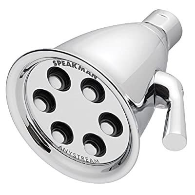 Speakman S-2256-E2 Icon Anystream Multi-Function Adjustable Signature Brass Shower Head, Polished Chrome
