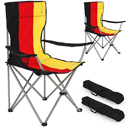 TecTake Silla de Camping Plegable + Portabebidas + Práctica Bolsa de Transporte cantidades -