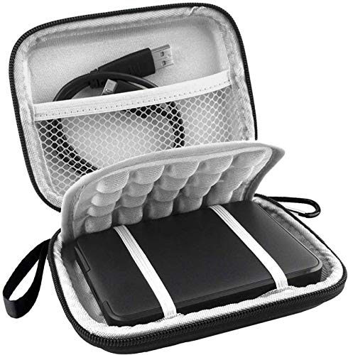 Stealodeal Hard Disk Case Cover for Seagate, Toshiba, WD, Sony, Transcend, Lenovo, HP & Hitachi 2.5 HDD External Hard Disk Cover (Black)