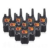 Midland T71VP3 36 Channel FRS Two-Way Radio - Up to 38 Mile Range Walkie Talkie - Black/Silver (Pack of 10)