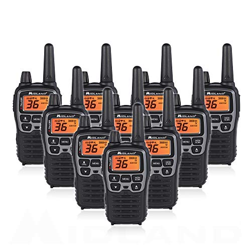 Midland T71VP3 36 Channel FRS Two-Way Radio - Up to 38 Mile Range Walkie Talkie - Black/Silver (Pack of 10). Buy it now for 399.95