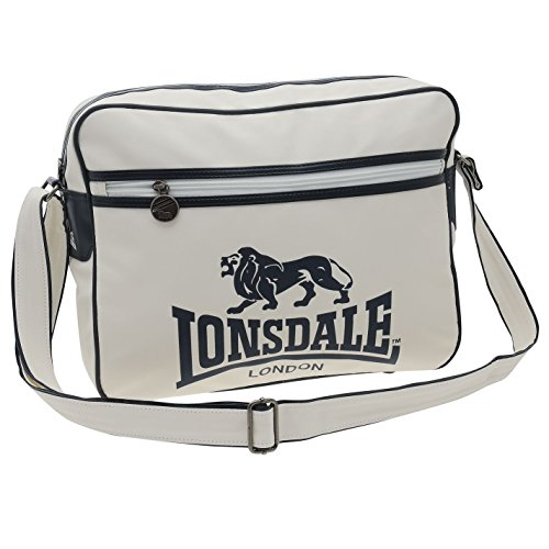 Lonsdale–Bolsa de Vuelo Blanco/Azul Marino Messenger Bolsa Bolso