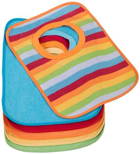 BIECO Le lot de 6 bavoirs doublés de plastique bavoir bébé, multicolore