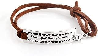personalized leather horse bracelet