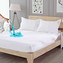 ComHoma Waterproof Mattress Protector Cover Deep Pocket Premium Soft Breathable Cotton Terry for Pets, Kids, Adults Twin Size 14