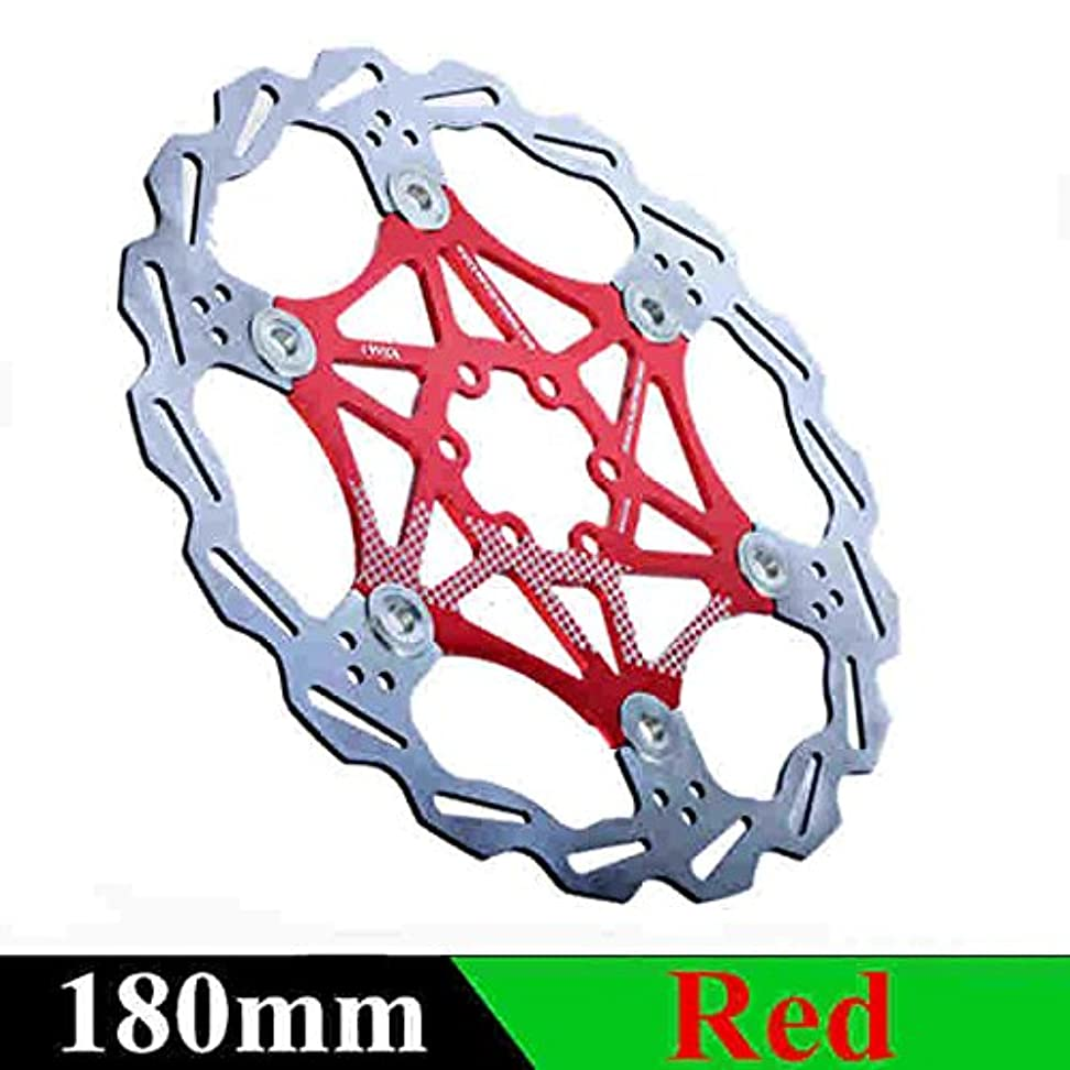 ハント服シャンプーPropenary - 自転車ディスクブレーキDHブレーキフロートは、ディスクローターをフローティング160ミリメートル/ 180ミリメートル/ 203ミリメートルHydreaulicブレーキパッドフロートローター自転車パーツ[180ミリメートルレッド]