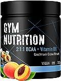 BCAA + Vitamin B6 hochdosiertes Pulver - Leucin, Isoleucin, Valin 2:1:1 - in deutscher premium...