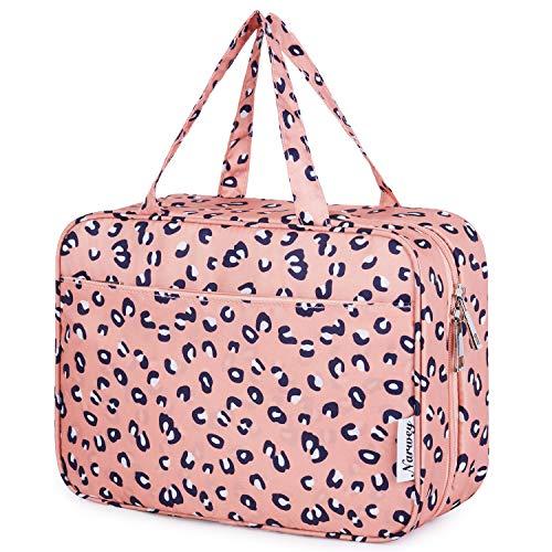 Bolsa de aseo grande para colgar, para maquillaje, organizador de cosméticos de viaje para mujeres y niñas