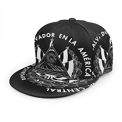 Gorras De Beisbol,Sombrero De Protección Solar,Gorra De Camionero,Gorra Ajustable Snapback del Escudo De Armas De El Salvador Sombreros Clásicos De Hip Hop