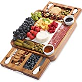 ABELL Cheese Board and Knife Sets, Acacia Charcuterie Boards Serving...