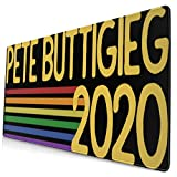 Buttigieg 2020 Retro Rainbow Tank Top Large Video Game Office Game Learning School Gift Computer Lock Edge Table Mat Competitive Mouse Pad.