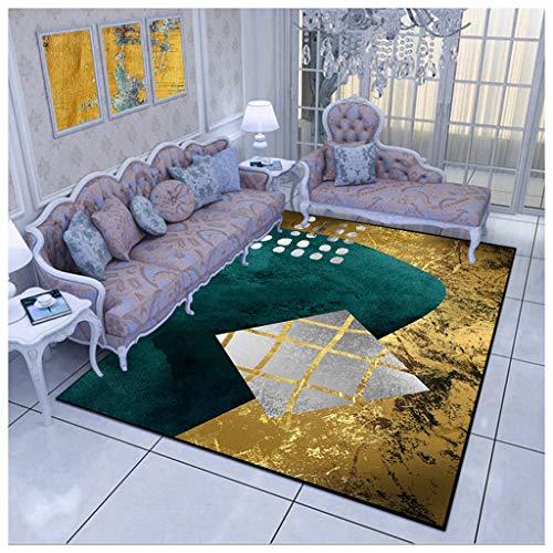 QINJLI moderne, minimalistische, wasbare ondertapijt, antislip, voor woonkamer, slaapkamer, 120 x 160 cm